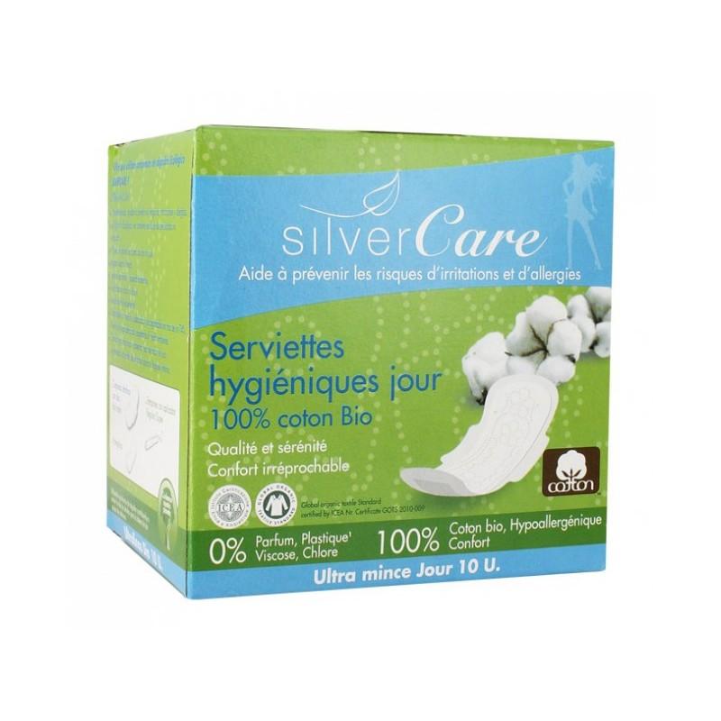 Serviettes hygiéniques ultra fine Jour Bio - SilverCare klessentiel.com