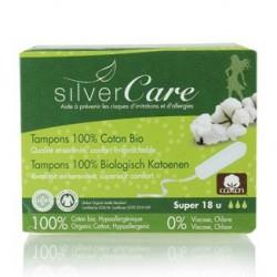 Tampon en coton bio sans applicateur - SilverCare Klessentiel.com