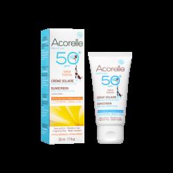 Crème solaire bébé SPF50+ - Acorelle klessentiel.com