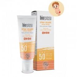Spray solaire spécial enfants SPF50 - Bioregena klessentiel.com