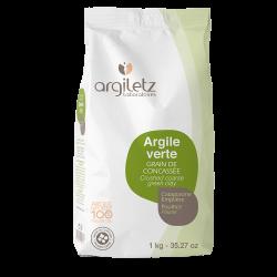 Argile verte grain de concassée 1kg - ArgileTz klessentiel.com