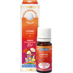 Perles d'huile essentielle Citron bio, biofloral, klessentiel.com