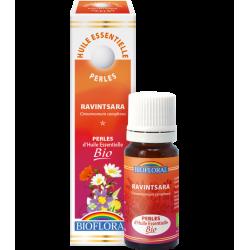 Perles d'huile essentielle ravintsara bio, biofloral, klessentiel.com