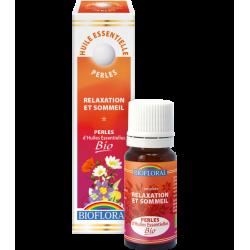 Perles d'huiles essentielles relaxation et sommeil bio, biofloral, klessentiel.com