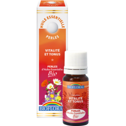 Perles d'huiles essentielles vitalité et tonus bio, biofloral, klessentiel.com