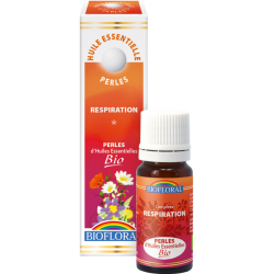 Perles d'huiles essentielles respiration bio, biofloral, klessentiel.com