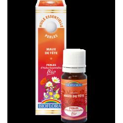 Perles d'huiles essentielles maux de tête bio, biofloral, klessentiel.com