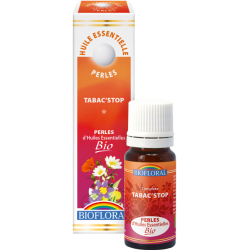 Perles d'huiles essentielles tabac'stop bio, biofloral,klessentiel.com