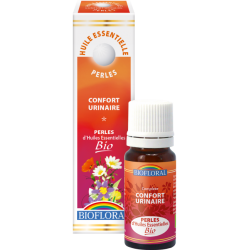 Perles d'huiles essentielles confort urinaire bio, biofloral, klessentiel.com