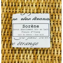 Savon absolument bio au Lait / Fleurs d'Ylang Sorène klessentiel.com