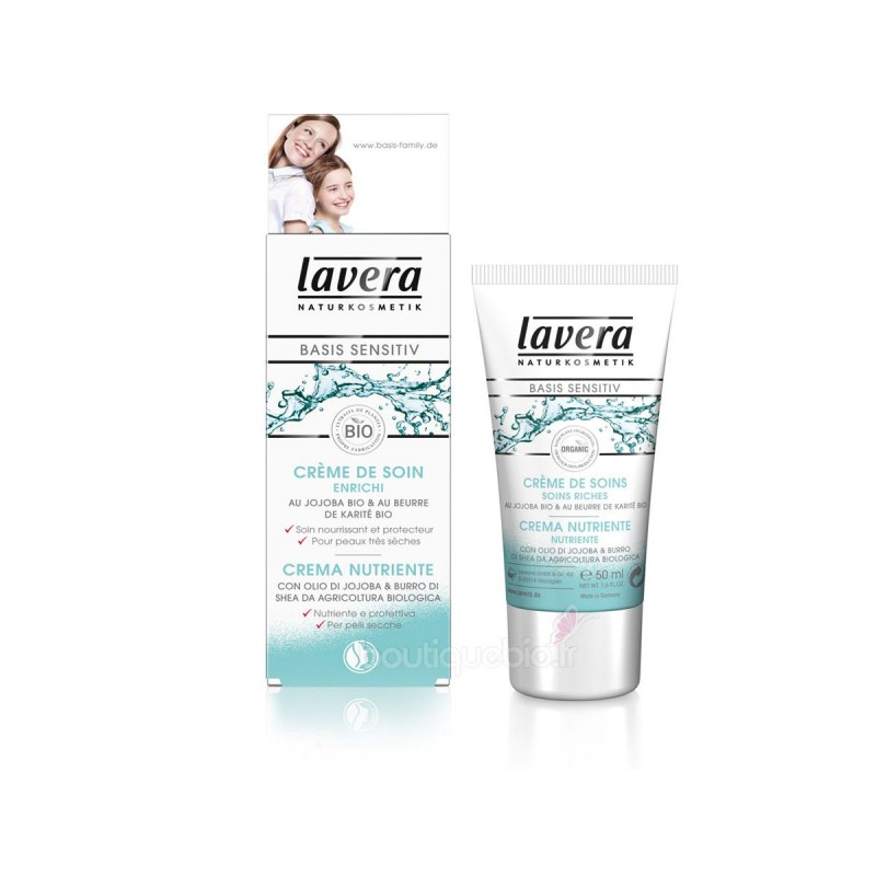 Crème de soin Jojoba & Beurre de Karité Bio Lavera klessentiel.com