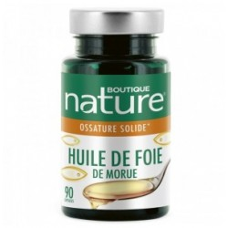 Huile de foie de morue 90 capsules Boutique Nature klessentiel.com
