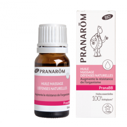 Huile de massage pranaBB défenses naturelles Pranarom klessentiel.com
