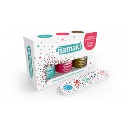 Coffret de 3 vernis : Caraïbes - Corail - Bronze + lime offerte - Namaki klessentiel.com